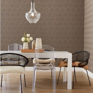 NR1512 York Wallcovering Norlander Norse Tribal Wallpaper Brown Room Setting