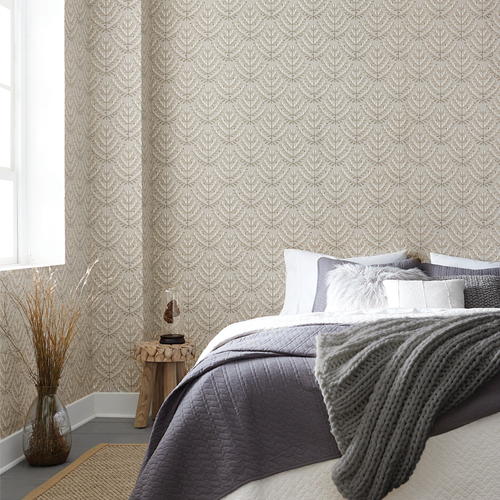 NR1589 York Wallcovering Norlander Norrland Wallpaper Berry Room Setting
