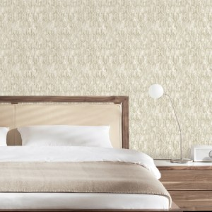 2838-IH2214 Brewster Wallcovering Decorline Vista Kendall Geometric Wallpaper Off-White Room Setting