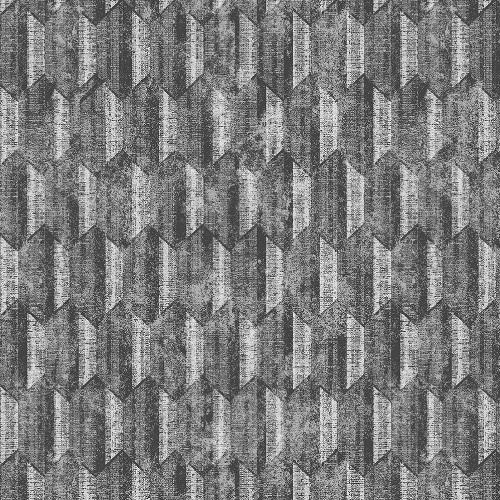 2838-IH2218 Brewster Wallcovering Decorline Vista Kendall Geometric Wallpaper Silver
