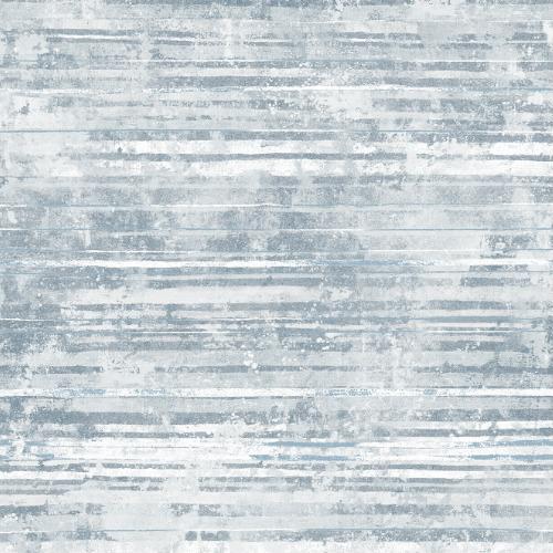 2838-IH2255 Brewster Wallcovering Decorline Vista Makayla Distressed Stripe Wallpaper Blue