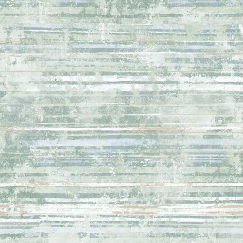 2838-IH2256 Brewster Wallcovering Decorline Vista Makayla Distressed Stripe Wallpaper Sea Green