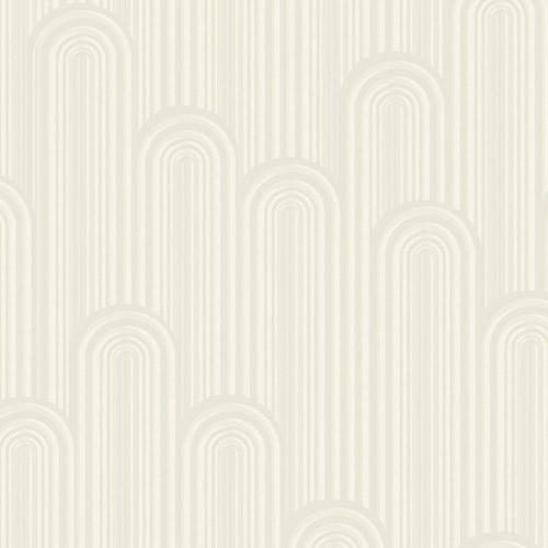 CA1543 York Wallcovering Antonina Vella Deco Speakeasy Wallpaper Off-white