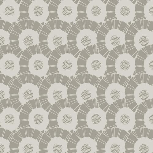 CA1557 York Wallcovering Antonina Vella Deco Coco Bloom Wallpaper Taupe