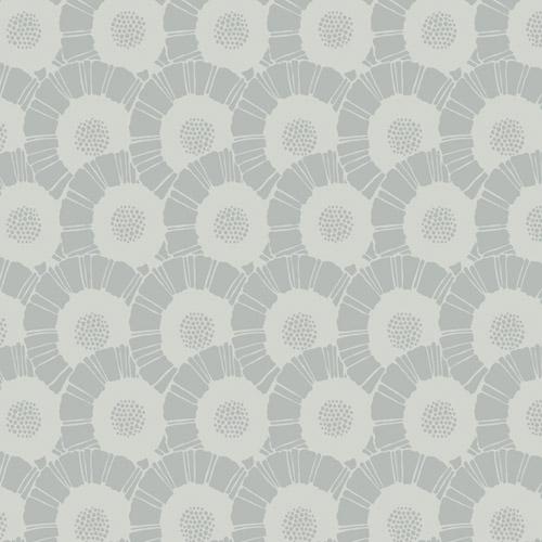 CA1558 York Wallcovering Antonina Vella Deco Coco Bloom Wallpaper Silver