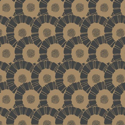 CA1559 York Wallcovering Antonina Vella Deco Coco Bloom Wallpaper Black