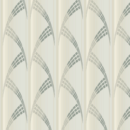 CA1580 York Wallcovering Antonina Vella Deco Metropolis Wallpaper Greige