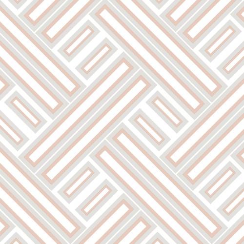 GX37600 Patton Wallcovering Norwall GeometriX Rectangles Wallpaper Rose Gold