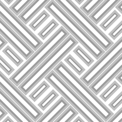 GX37608 Patton Wallcovering Norwall GeometriX Rectangles Wallpaper Silver