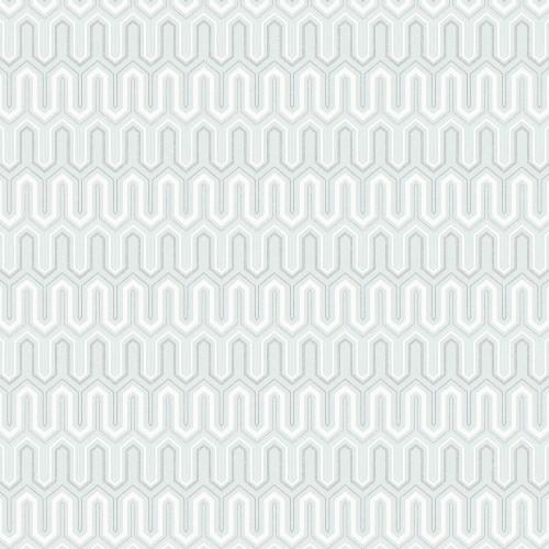 GX37617 Patton Wallcovering Norwall GeometriX Zig Zag Wallpaper Mint