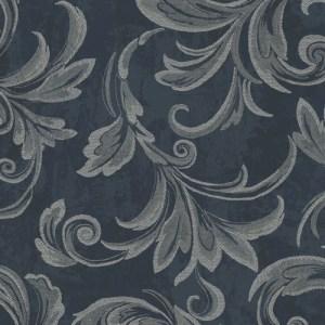 2010102 Seabrook Wallcovering Etten Gallerie Aura Acanthus Wallpaper Blue