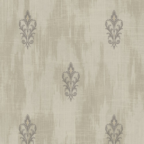 2011106 Seabrook Wallcovering Etten Gallerie Aura Fluer de Lis Wallpaper Gold