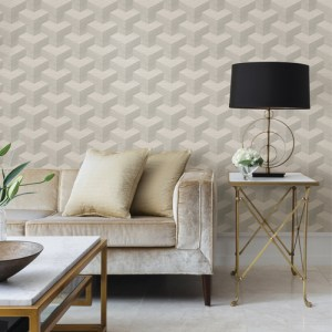 2829-82053 Brewster Wallcovering A Street Prints Fibers Y Knot Geometric Texture Wallpaper Light Grey Room Setting