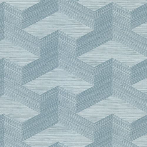 2829-82063 Brewster Wallcovering A Street Prints Fibers Y Knot Geometric Texture Wallpaper Turquoise