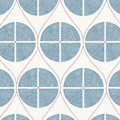 2901-25424 Brewster Wallcovering A Street Prints Perennial Luminary Ogee Wallpaper Blue