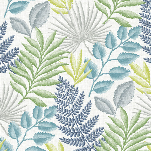 2901-87504 Brewster Wallcovering A Street Prints Perennial Palomas Botanical Wallpaper Multi-Color