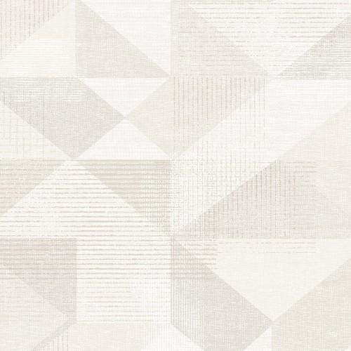 GX37653 Patton Wallcovering Norwall GeometriX Silk Screen Geometric Wallpaper Beige