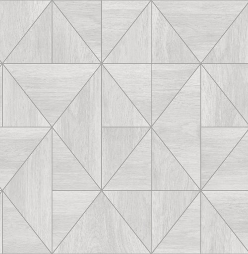 2908-25320 Brewster Wallcovering A Street Prints Alchemy Cheverny Geometric Wood Wallpaper Light Grey