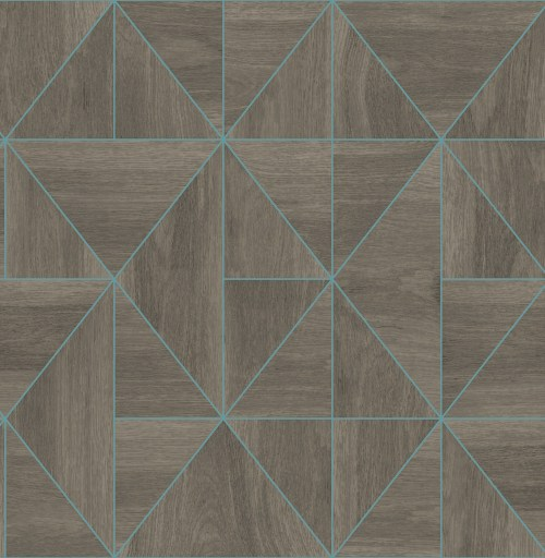 2908-25322 Brewster Wallcovering A Street Prints Alchemy Cheverny Geometric Wood Wallpaper Coffee