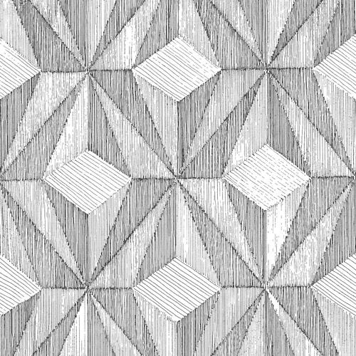 2908-87101 Brewster Wallcovering A Street Prints Alchemy Paragon Geometric Wallpaper Black