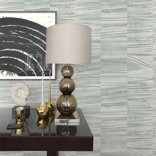 2908-87122 Brewster Wallcovering A Street Prints Alchemy Lithos Geometric Marble Wallpaper Slate Room Setting