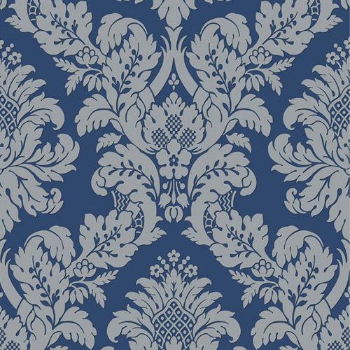 UK10457 Seabrook Wallcovering Pear Tree Studio Shimmer Glitter Damask Wallpaper Blue