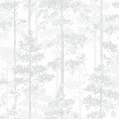 8828 Brewster Wallcovering Graphic World Pine Silhouette Trees Wallpaper Off-White