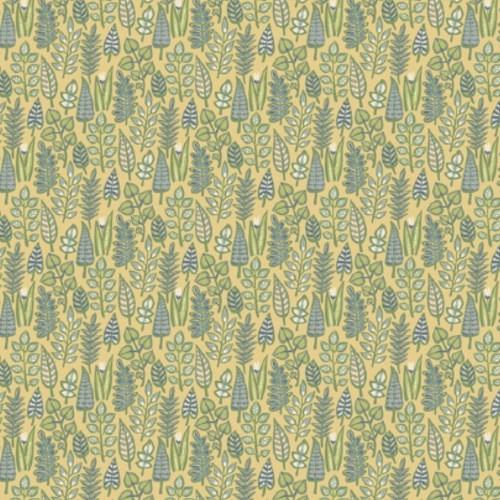 SP1410 York Wallcoverings Small Prints Leaf Life Wallpaper Yellow