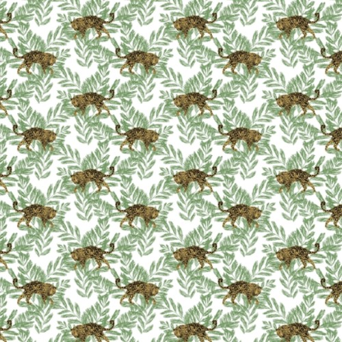SP1450 York Wallcovering Small Prints On The Prowl Wallpaper Green