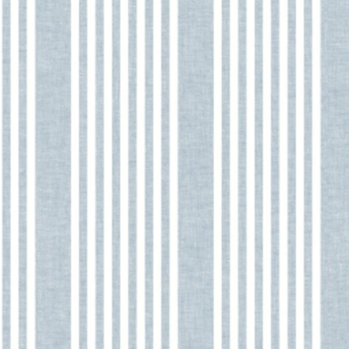 SR1584 York Wallcovering Stripes Resource Library French Linen Stripe Wallpaper Blue
