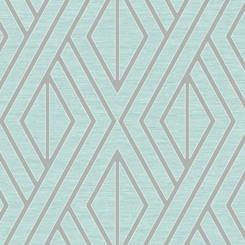 UK30512 Seabrook Wallcovering Pear Tree Studio Shimmer Abstract Diamond Wallpaper Turquoise