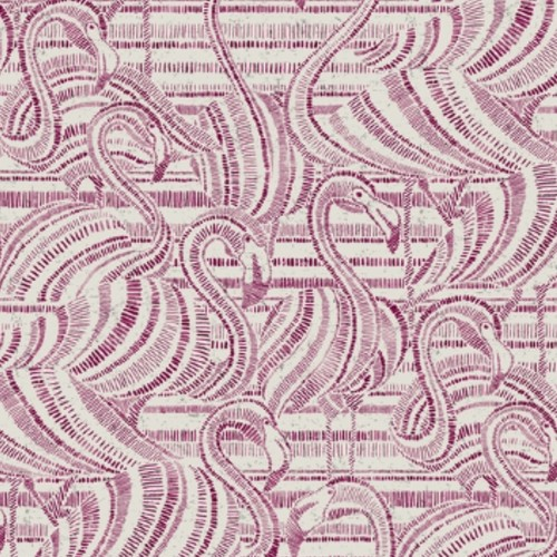 CY1503 York Wallcovering Conservatory Flamingo Flamboyance Wallpaper Pink