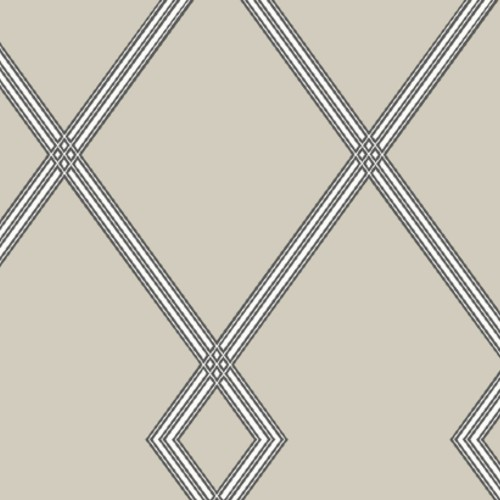 CY1510 York Wallcovering Conservatory Ribbon Stripe Trellis Wallpaper Taupe