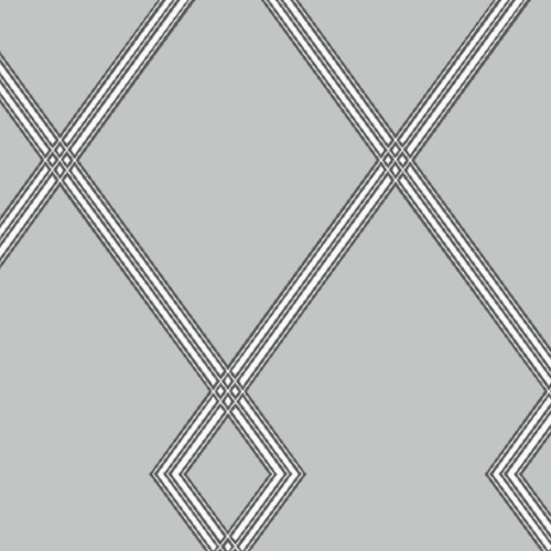 CY1511 York Wallcovering Conservatory Ribbon Stripe Trellis Wallpaper Grey Black