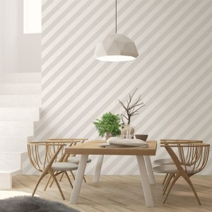 ST36914 Patton Wallcovering Norwall Simply Stripes 3 Diagonal Stripe Wallpaper Dove Room Setting