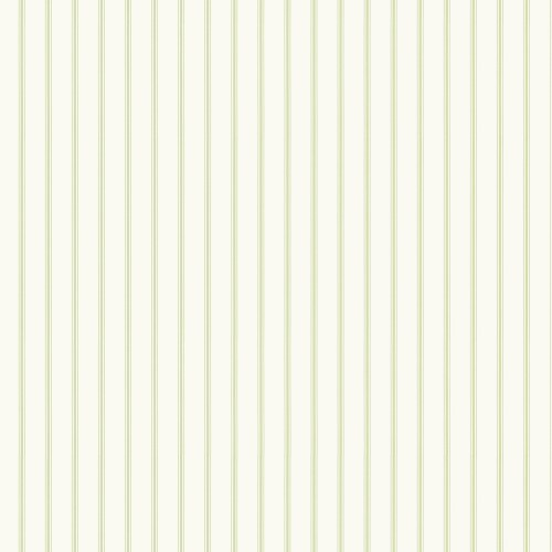 SY33930 Patton Wallcovering Norwall Simply Stripes 3 Ticking Stripe Wallpaper Green