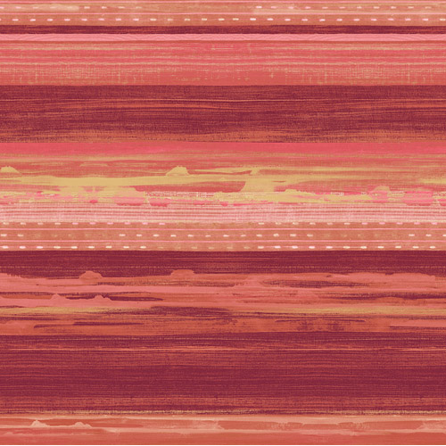 RY31301 Seabrook Wallcovering Boho Rhapsody Horizon Wallpaper Red