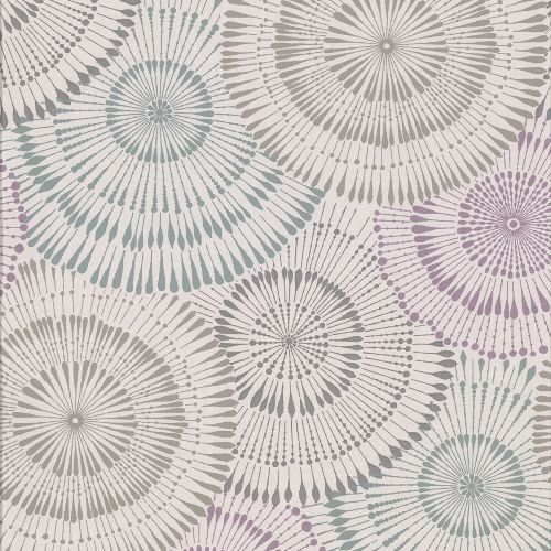 2909-AW87738 Brewster Wallcovering Riva Howe Medallions Wallpaper Multi-color