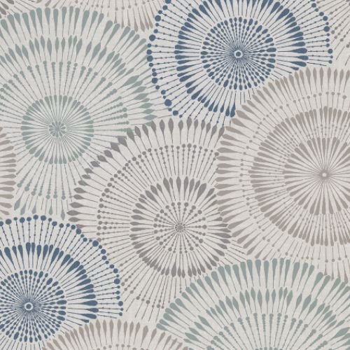 2909-AW87741 Brewster Wallcovering Riva Howe Medallions Wallpaper Blue
