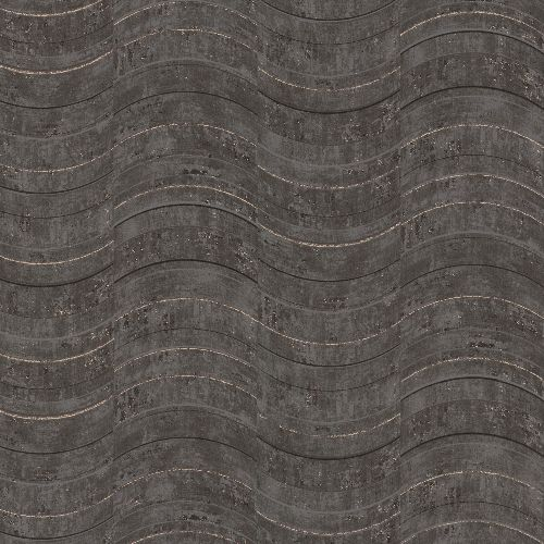 2927-10803 Brewster Wallcovering Polished Hydra Geometric Wallpaper Dark Grey