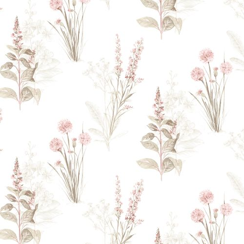 AF37715 Patton Wallcoverings Norwall Flourish Flora Wallpaper Pink