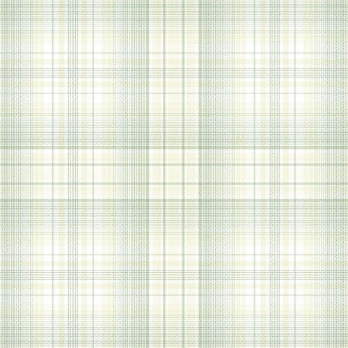 AF37717 Patton Wallcoverings Norwall Flourish Check Plaid Wallpaper Green