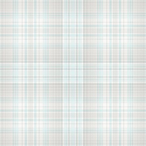 AF37720 Patton Wallcoverings Norwall Flourish Check Plaid Wallpaper Turquoise