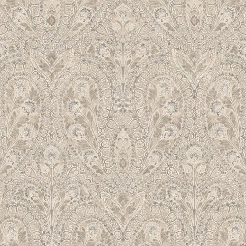 AF37729 Patton Wallcoverings Norwall Flourish Ornamental Wallpaper Beige