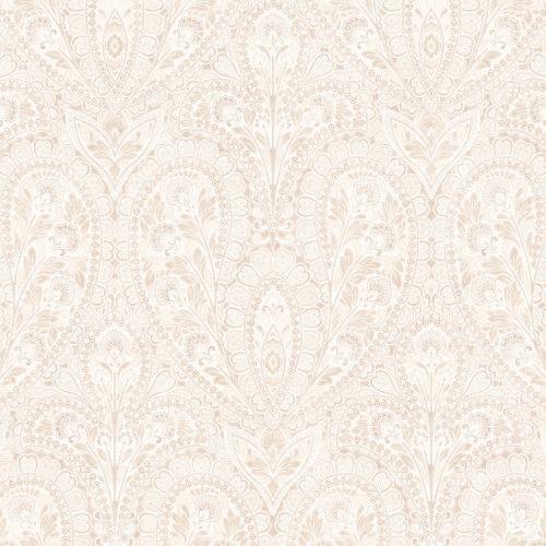 AF37731 Patton Wallcoverings Norwall Flourish Ornamental Wallpaper Vanilla