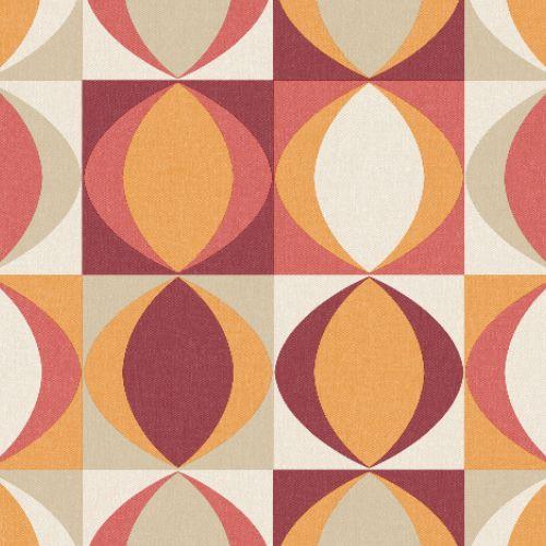 2903-25842 Brewster Wallcoverings A Street Prints Bluebell Archer Linen Geometric Wallpaper REd