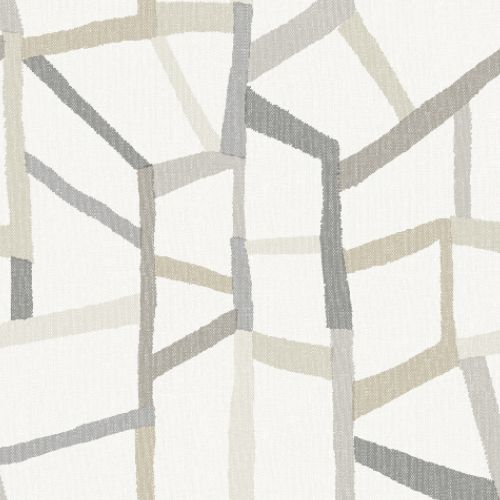 2903-25848 Brewster Wallcoverings A Street Prints Bluebell Tate Geometric Linen Wallpaper Grey