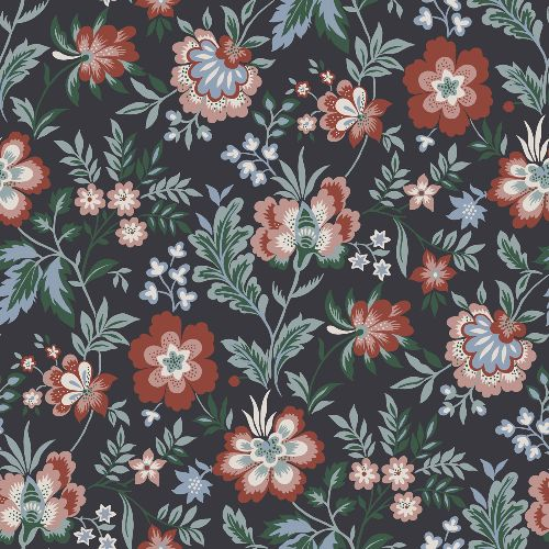2948-28004 Brewster Wallcoverings A Street Prints Athena Floral Wallpaper Multi-Color
