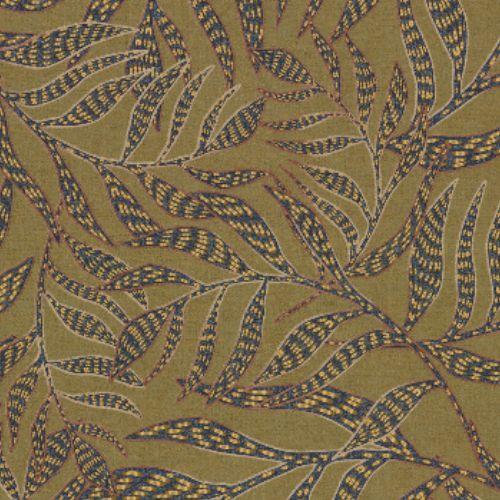 391551 Brewster Wallcoverings Eijffinger Terra Montrose Leaves Wallpaper Olive