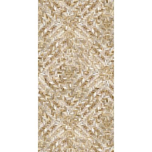 391563 Brewster Wallcoverings Eijffinger Terra Lakewood Weave Repeatable Wall Mural Straw